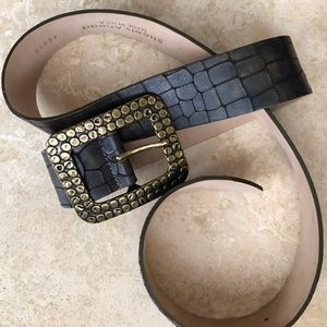 Vintage Streets Ahead Croc Belt with Molded Buckle